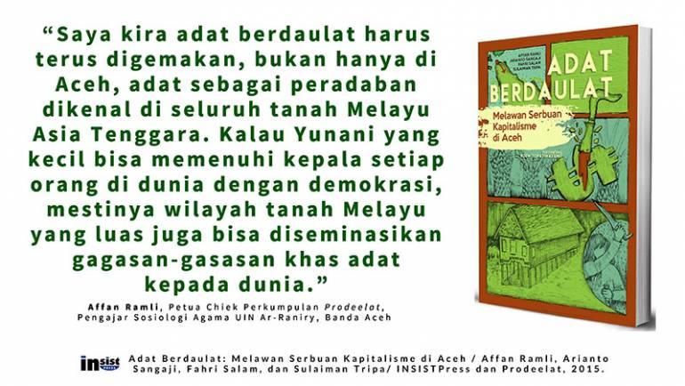 Buku: Adat Berdaulat, Melawan Serbuan Kapitalisme di Aceh