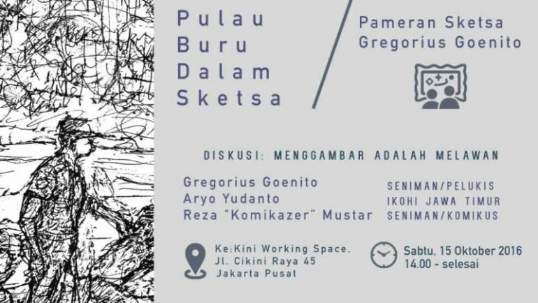 Peluncuran Buku Sketsa, Diskusi Publik & Pameran karya Gregorius Soeharsojo Goenito