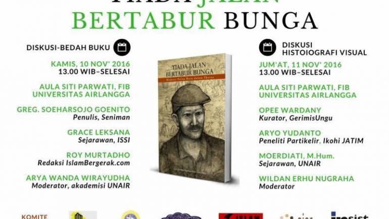 """Pameran Lukisan & Diskusi Buku """"TIADA JALAN BERTABUR BUNGA"""""""