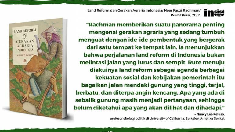Nancy Lee Peluso: Rachman memberikan suatu panorama penting mengenai gerakan agraria Indonesia