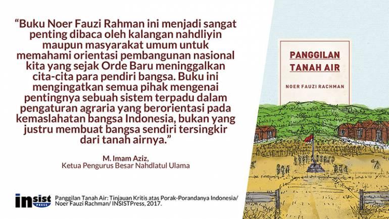 Buku ini mengingatkan semua pihak, pentingnya sebuah sistem terpadu dalam pengaturan agraria
