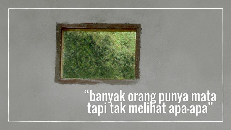 lewat jendela kecil…