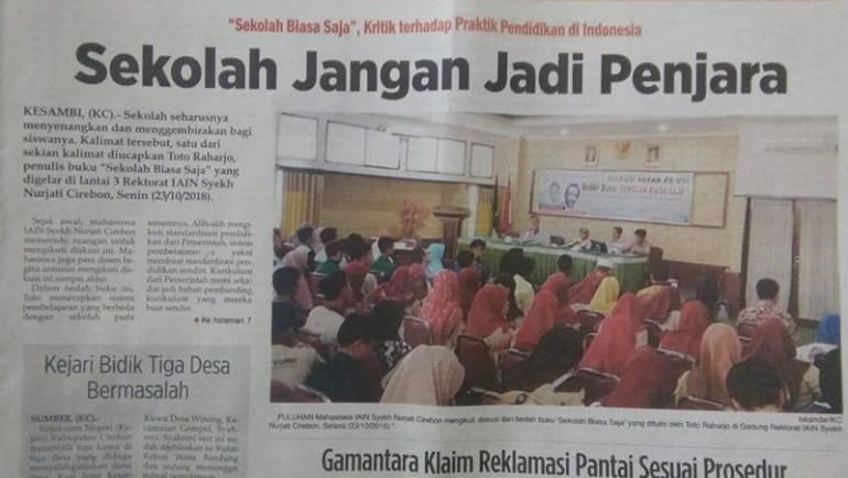 Sekolah Jangan Jadi Penjara