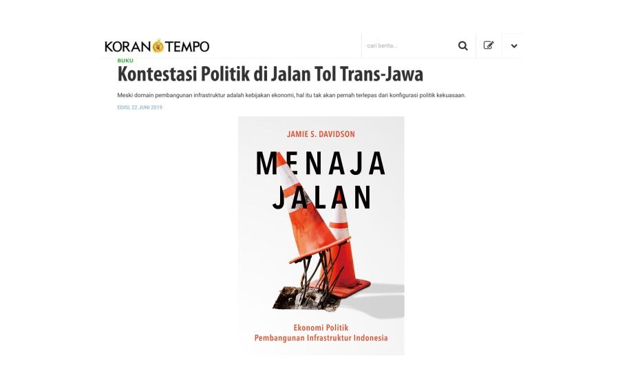 Kontestasi Politik di Jalan Tol Trans-Jawa